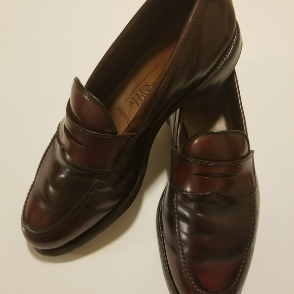 Allen Edmonds Hamilton Tan Brown Cordovan Leather Loafers Men's Size 11 M*
